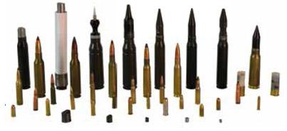 Projectiles utilisés pour les essais balistiques